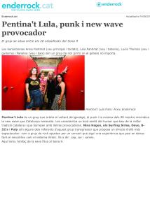 Enderrock : Pentina't Lula, punk i new wave provocador
